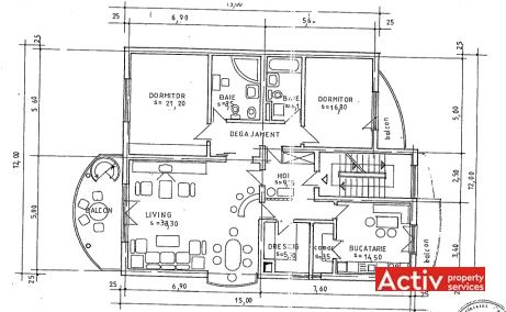 Nicolae Caramfil 77 spatii de birouri Bucuresti nord poza plan etaj