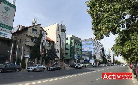 Nicolae Caramfil 77 spatii de birouri de inchiriat Bucuresti nord poza cale de acces