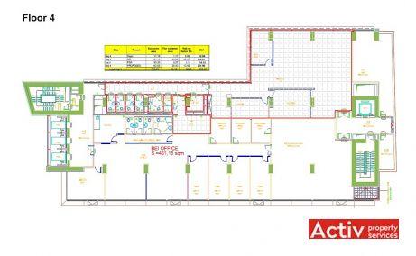 Lascar 31 Business Center spatii de birouri de inchiriat Bucuresti central plan etaj