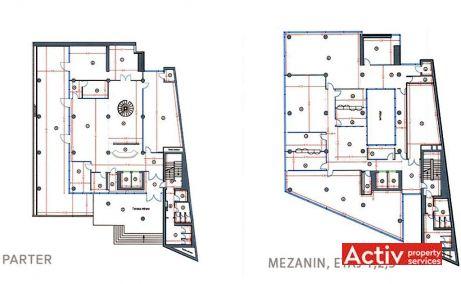 Clucerului 78-80 spatii de birouri Bucuresti nord plan etaj
