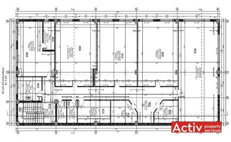 Auto Ovarom spatii de birouri de inchiriat Timisoara nord plan etaj