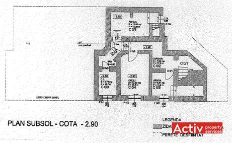 Constantin Noica 159 inchiriere spatii de birouri Bucuresti central imagine plan etaj