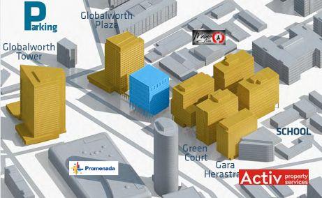 Globalworth Square spatii de birouri de inchiriat Bucuresti nord imagine amplasament