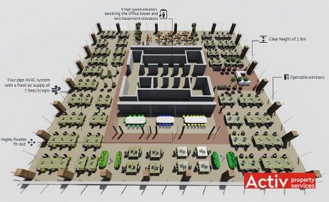 Globalworth Square birouri de inchiriat Bucuresti nord plan cadru