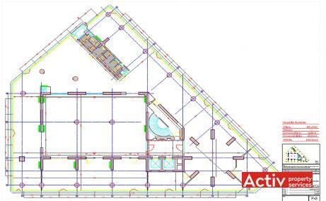 Nicolae Filipescu 39-41 cladire de birouri de inchiriat Bucuresti centru plan etaj