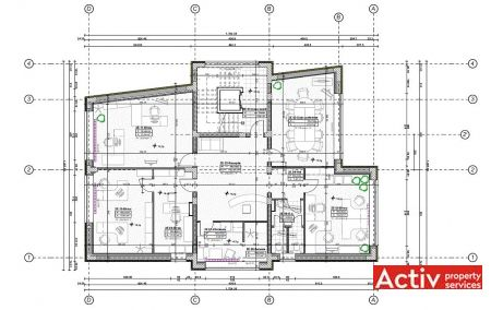 Nicolae Caramfil 61C spatii de  birouri de inchiriat Bucuresti nord plan etaj