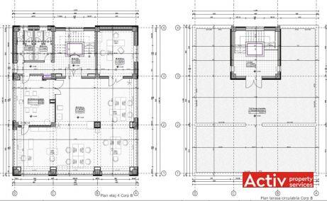 Nicolae Caramfil 61C spatii de  birouri de vanzare Bucuresti nord plan etaj
