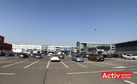 The Market spatii de birouri Bucuresti est vedere parcare exterioara
