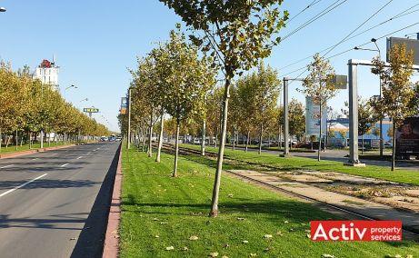 The Market spatii de birouri Bucuresti est vedere parcare vedere cale de acces bulevard