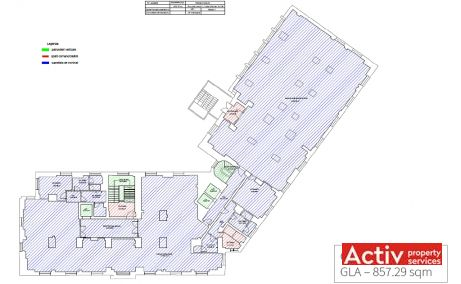 H Victoriei 109 inchiriere spatii de birouri Bucuresti central plan etaj