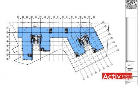 Regus Floreasca Business Park spațiu de birouri metrou Aurel Vlaicu, plan