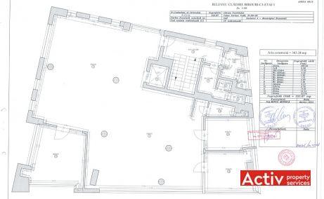 Serban Voda 90-92 inchiriere birouri Bucuresti central plan etaj