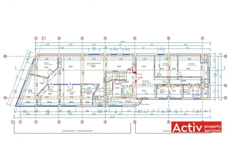 Plevnei 172 spatii de birouri Bucuresti central plan etaj