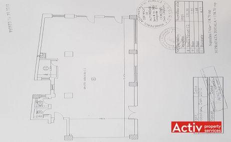 Agricultori 33 inchiriere spatiu de birouri Bucuresti central plan etaj