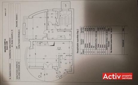 Nicolae Caramfil 75B spatii de birouri de inchiriat Bucuresti nord plan etaj