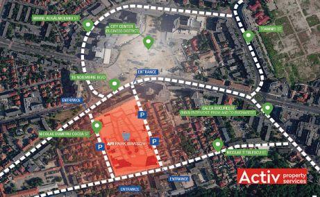 AFI Park Brasov spatii de birouri de inchiriat Brasov central imagine amplasament