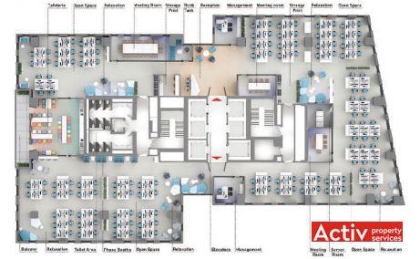 AFI Park Brasov birouri de inchiriat Brasov central plan etaj