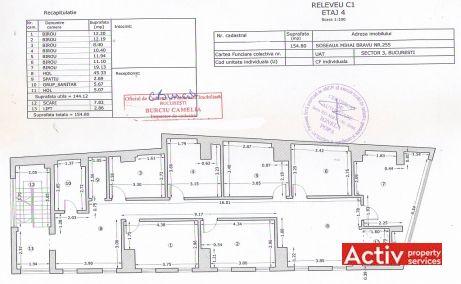 Mihai Bravu 255 spatii de birouri de inchiriat Bucuresti central poza plan etaj