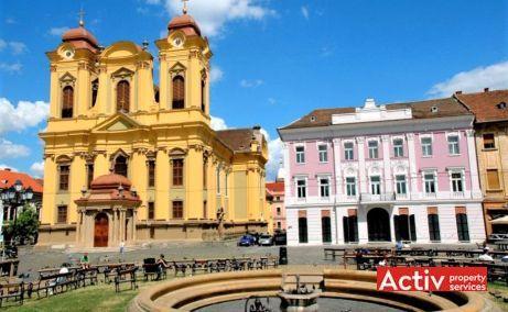 Unirii 13 spatii de birouri de inchiriat Timisoara central imagine amplasament