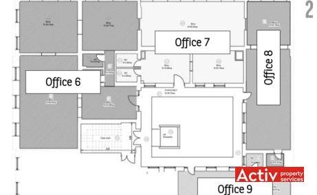 Unirii 13 spatii de birouri de inchiriat Timisoara central plan etaj