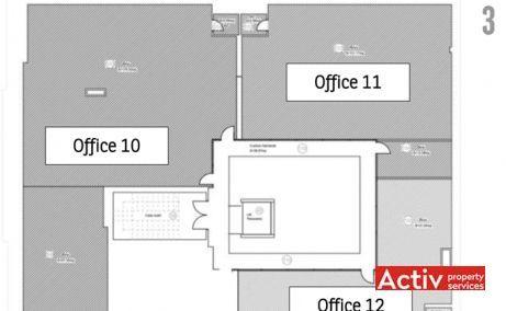 Unirii 13 spatii de birouri de inchiriat Timisoara central schita etaj