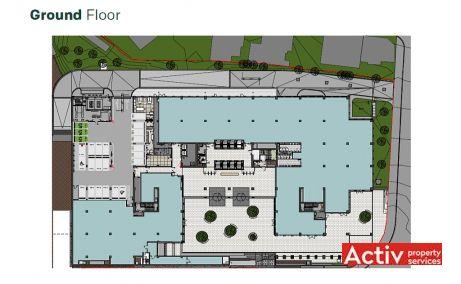 U-Center inchiriere spatii de birouri Bucuresti central plan etaj