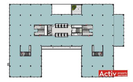 U-Center inchiriere spatii de birouri Bucuresti central plan cladire