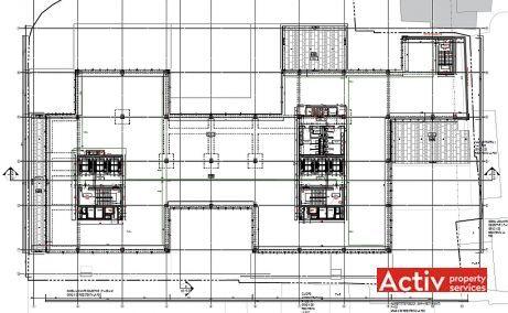 Tandem inchiriere spatii de birouri Bucuresti central plan etaj