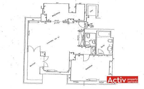 Maresal Averescu 15 birouri de inchiriat Bucuresti nord plan etaj