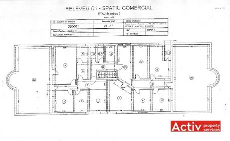 Strauss 2A spatii de birouri de inchiriat Bucuresti nord plan etaj