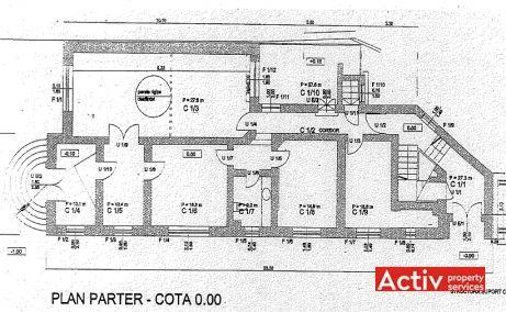 Constatin Noica 159 vanzare birouri Bucuresti centru plan etaj