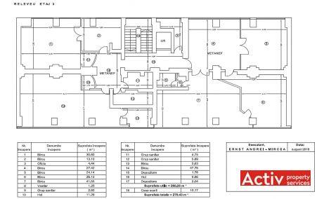 Calea Floreasca 91-111 cladire de birouri de inchiriat Bucuresti nord plan etaj