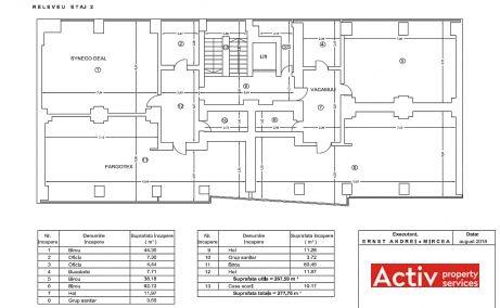 Calea Floreasca 91-111 cladire de birouri de inchiriat Bucuresti nord imagine etaj