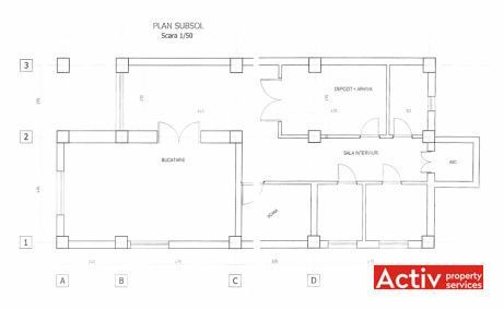 Vespasian 9 spatii de birouri de inchiriat Bucuresti central vedere plan etaj
