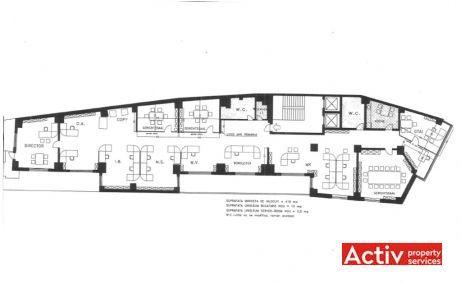 Clucerului 35 vanzare spatii de birouri Bucuresti nord poza plan