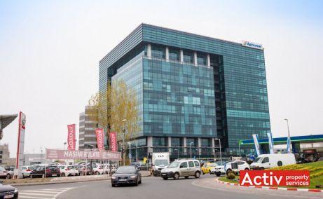 Cubic Center spații birouri nord Pipera, perspectivă încadrare în zonă