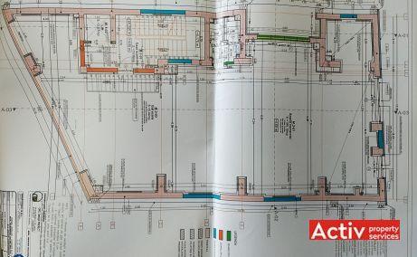 Academiei 29 spatii de birouri de inchiriat Bucuresti central plan etaj