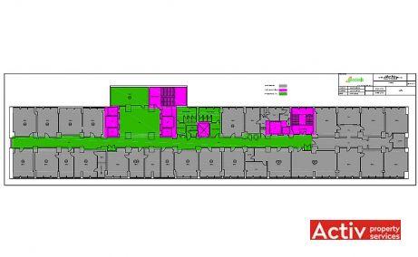 Lacul Tei Offices cladire de birouri de inchiriat Bucuresti nord imagine plan etaj
