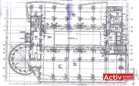 Construdava spatii de birouri de inchiriat Bucuresti nord plan etaj