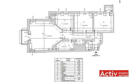 Ceasornicului 3-7 spatii de birouri de inchiriat Bucuresti nord plan etaj