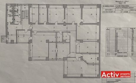Plevnei 139 cladire de birouri de inchiriat Bucuresti vest plan etaj