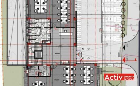 Sinaia 41 birouri de inchiriat Cluj vest plan cladire
