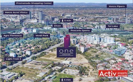 One Verdi Park spatii de birouri de inchiriat Bucuresti nord poza amplasament
