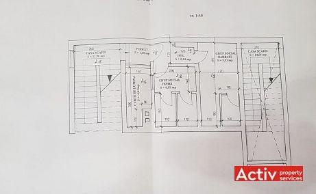 Decebal 17 inchiriere spatii de birouri Cluj central poza plan