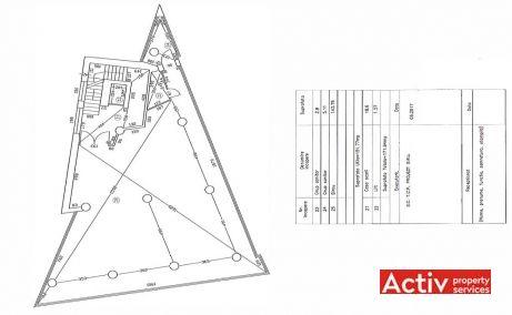 Savinesti 6 Office inchiriere spatii de birouri Bucuresti central imagine plan