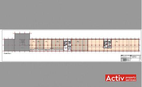 Electrotimiș birou de închiriat Timișoara plan etaj