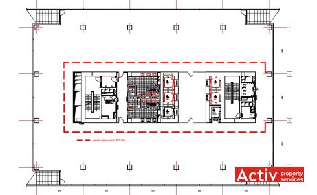 Riverplace inchiriere spatii de birouri Bucuresti vest plan etaj