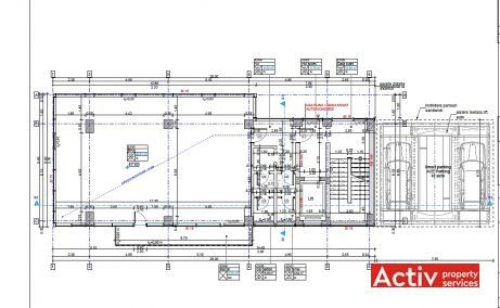 Calea Vitan 9A inchiriere spatii de birouri Bucuresti central plan etaj