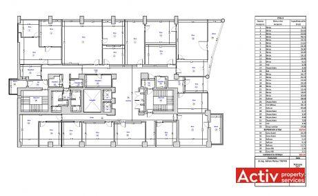 Centrul Tiriac birouri de inchiriat Bucuresti nord plan etaj