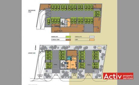 CSDA birouri de inchiriat Bucuresti nord plan cladire
